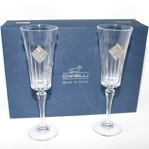 "Chinelli Набор из 2-х бокалов для шампанского ""Regina Rombo"" 3046100"